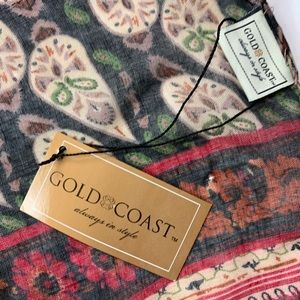 Gold Coast fashion scarf shawl 30 x 76